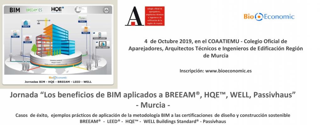 """Jornada gratuita """"Los beneficios de BIM aplicados a BREEAM® - WELL - HQE™ y Passivhaus"""