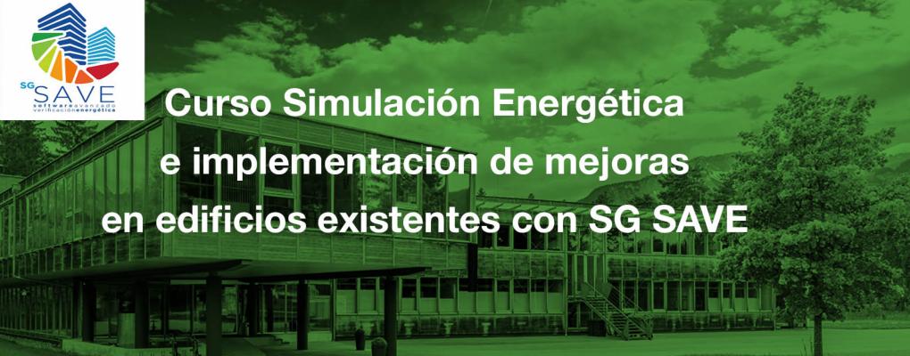 Curso Simulación Energética e implementación de mejoras en edificios existentes con SG SAVE