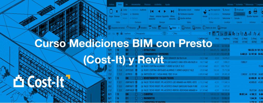 Curso Mediciones BIM con Presto (Cost-It) y Revit
