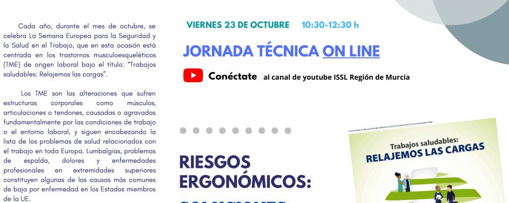 Jornada Técnica online: Riesgos Ergonómicos. Soluciones prácticas