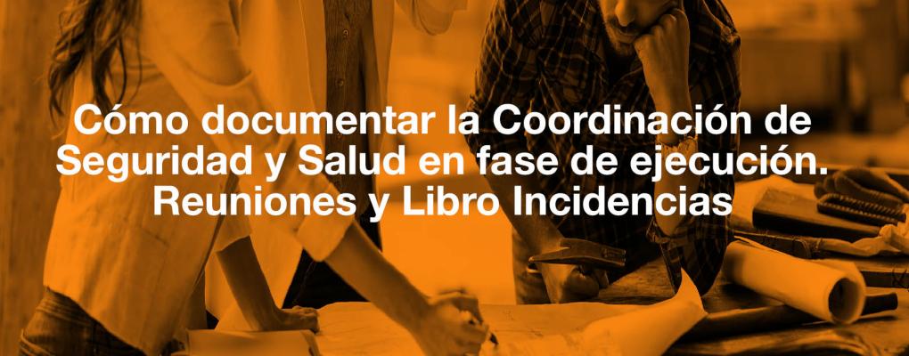 Curso Cómo documentar la Coordinación de Seguridad y Salud en fase de ejecución. Reuniones y Libro Incidencias