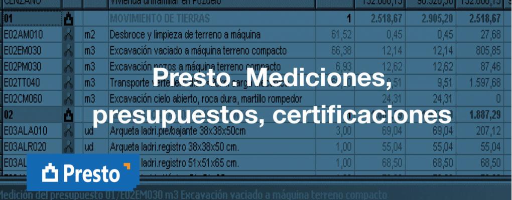 Presto. Mediciones, presupuestos, certificaciones. 8ª edición