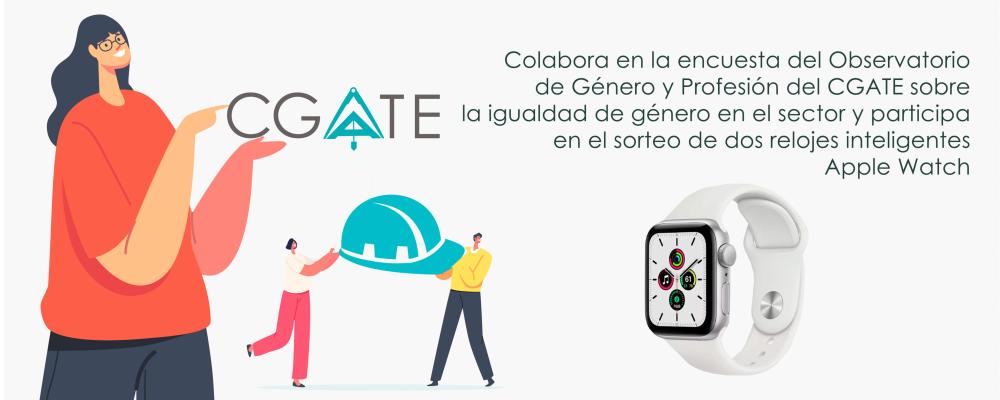 Participa en la encuesta de igualdad de genero del sector del CGATE y entra en el sorteo de dos apple watch