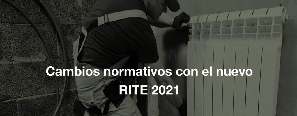 Jornada Cambios normativos con el nuevo RITE 2021