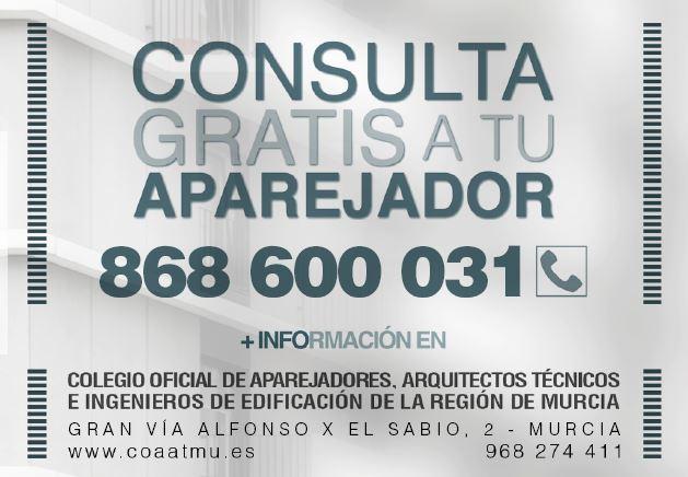 El Colegio de aparejadores de Murcia ofrece asesoramiento gratuito para solicitar las ayudas a la Rehabilitación